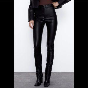 Zara trafaluc - leather leggings - size small